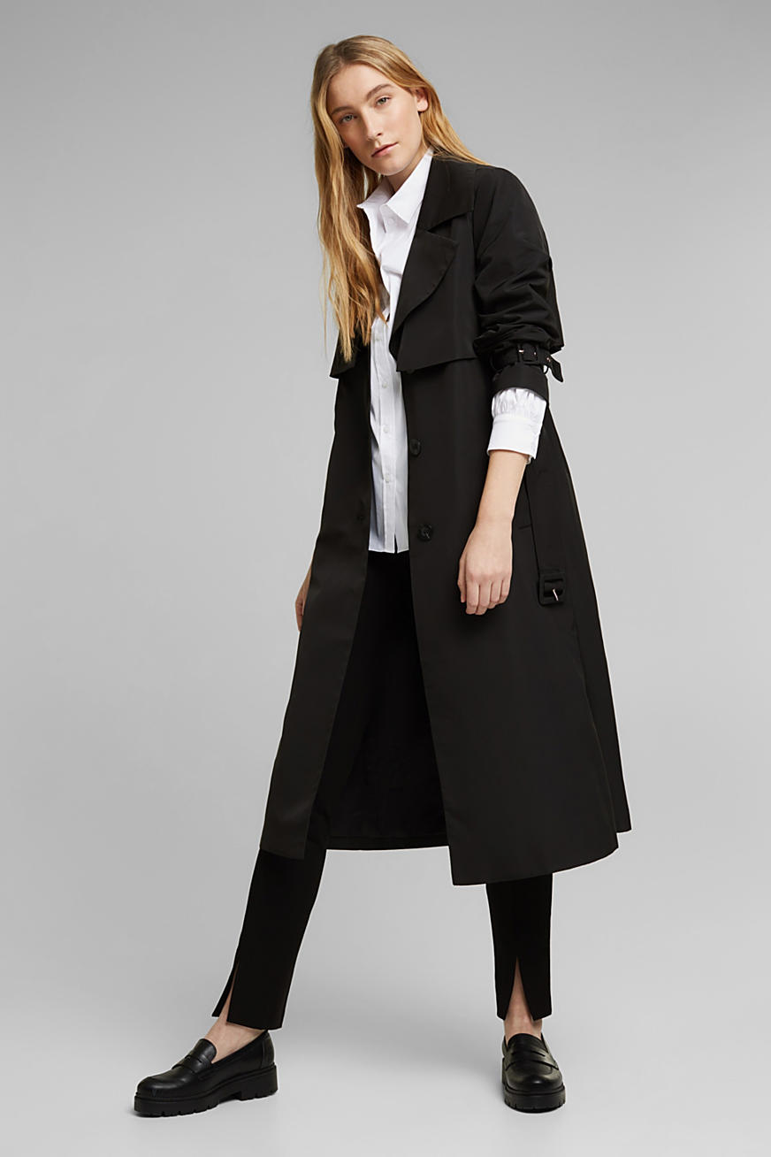 Recycled: Trench coat with a waist belt