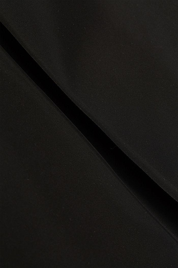 Recycelt: Trenchcoat mit Taillengürtel, BLACK, detail image number 4