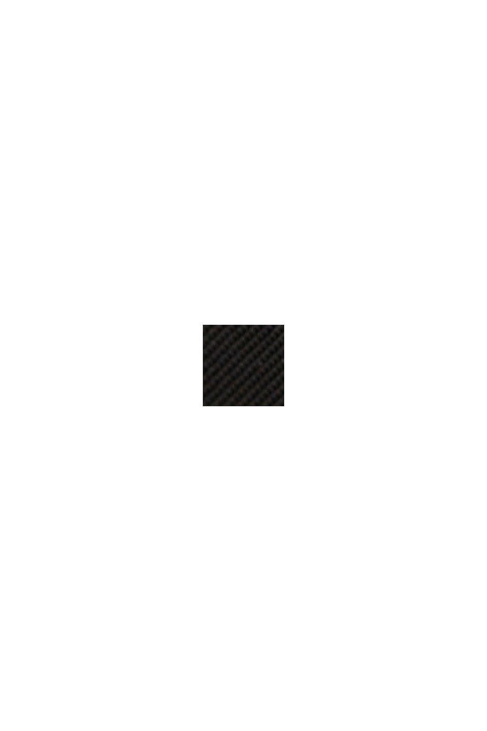 Recycelt: Trenchcoat mit Taillengürtel, BLACK, swatch
