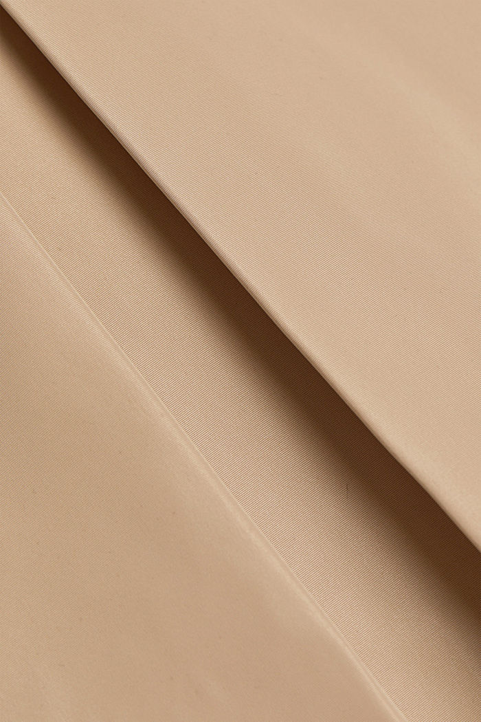 Recycled: Trench coat with a waist belt, SAND, detail image number 4