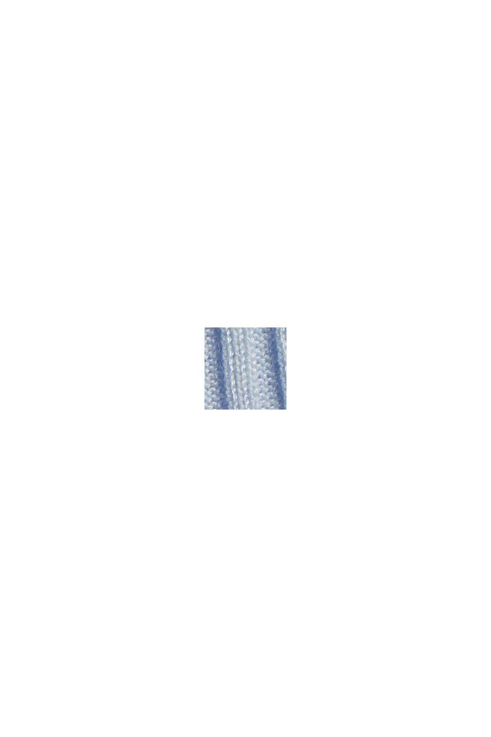Z TENCELU™/wełny: prążkowany sweter z łódkowym dekoltem, PASTEL BLUE, swatch