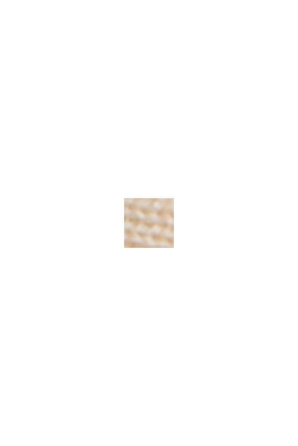 Made of TENCEL™/wool: ribbed V-neck jumper, CREAM BEIGE, swatch