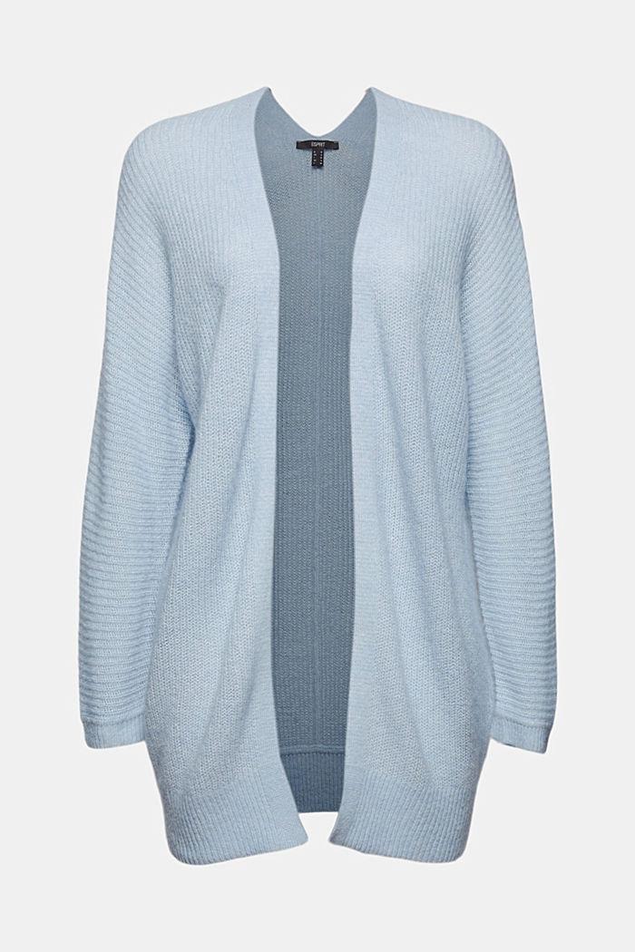 Met wol/alpaca: Ribgebreid vest, PASTEL BLUE, detail image number 5