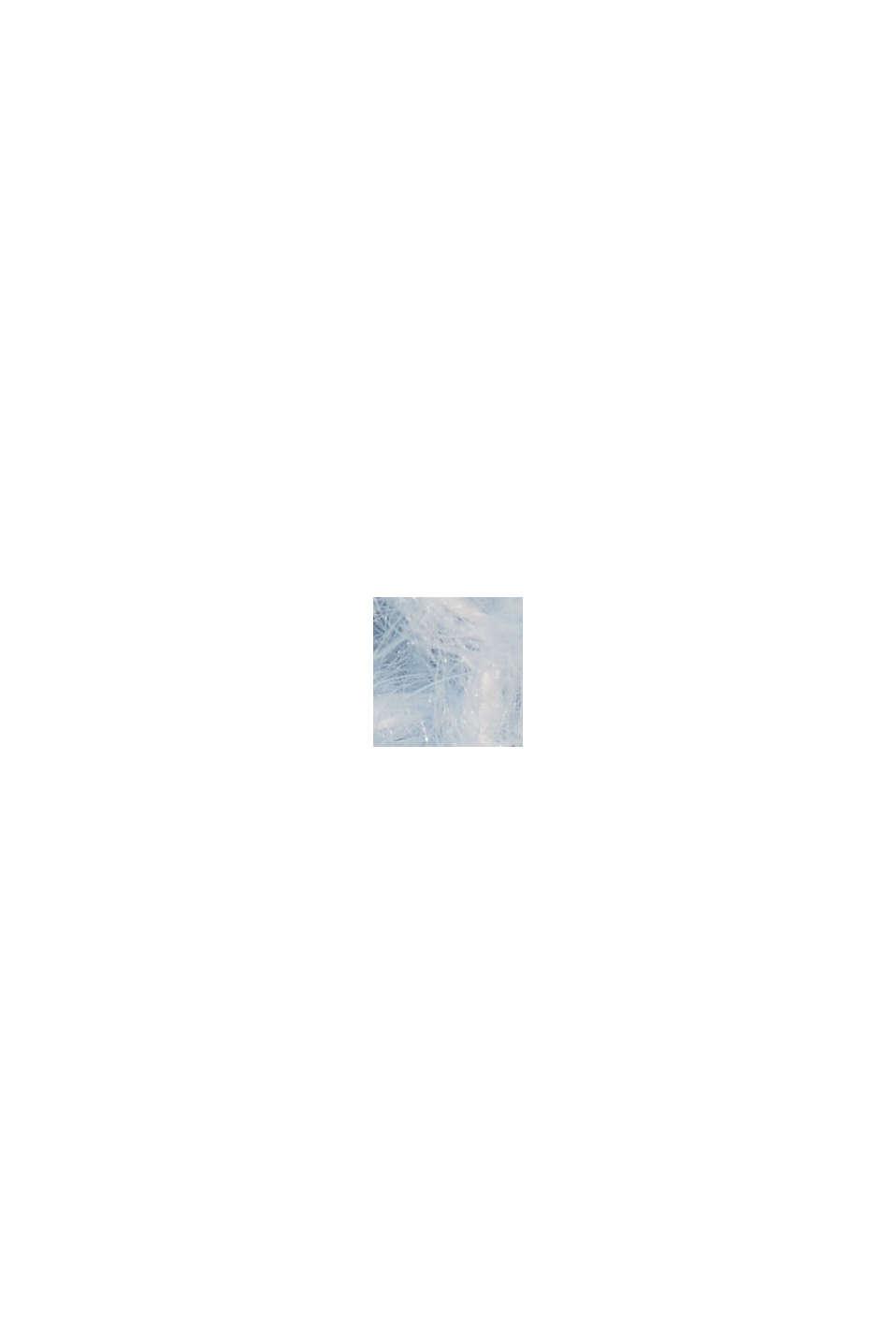 Z wełną/alpaką: Kardigan z dzianiny w prążki, PASTEL BLUE, swatch