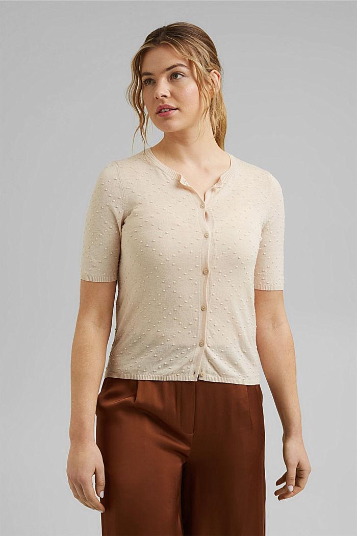 Elegant vest met stippelstructuur