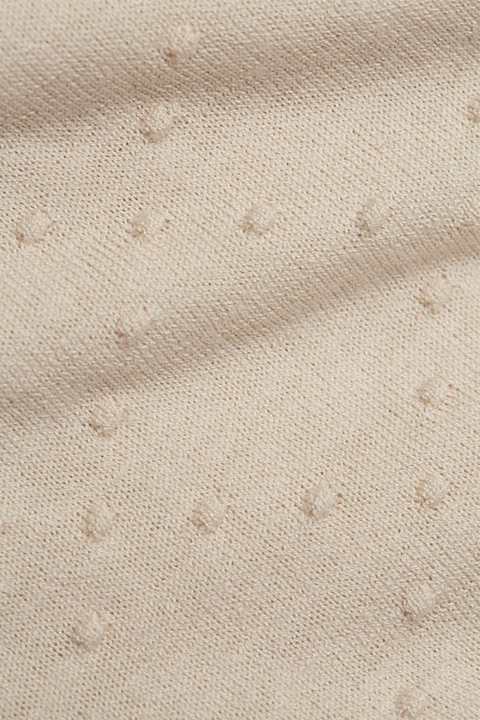 Fine cardigan with a polka dot texture, CREAM BEIGE, detail image number 4