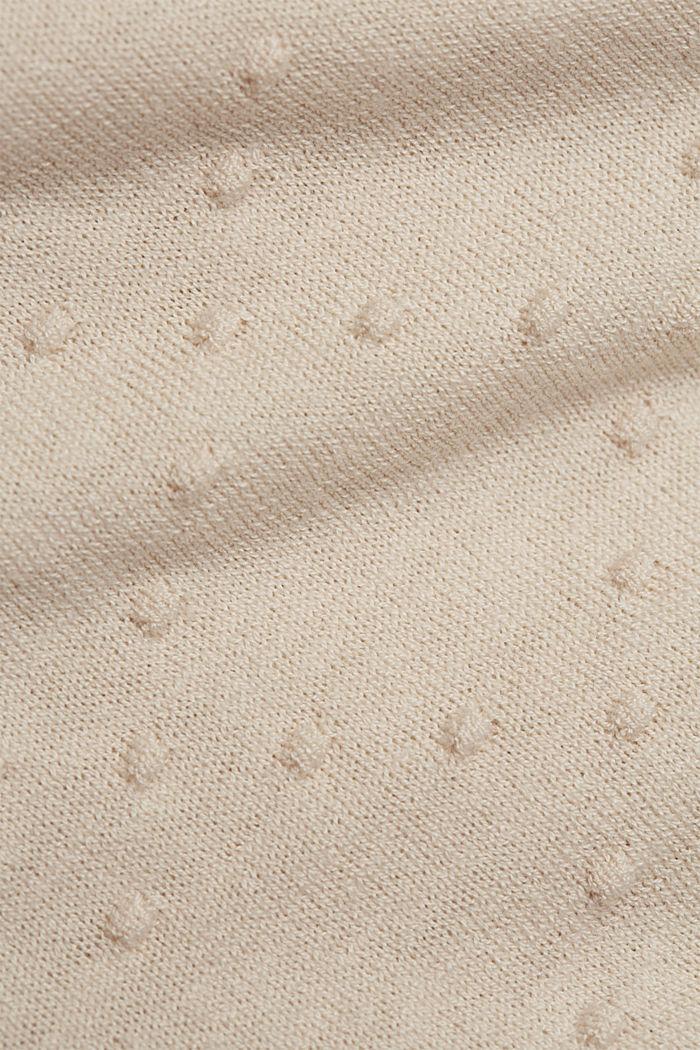 Cienki kardigan w kropki, CREAM BEIGE, detail image number 4