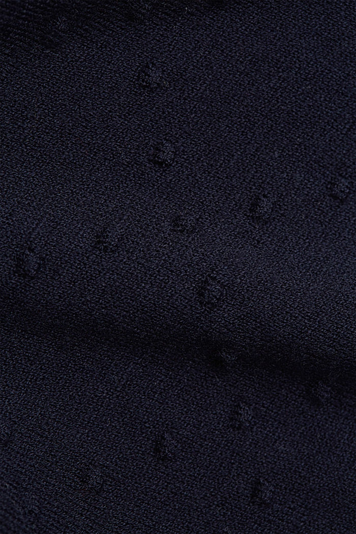 Fine cardigan with a polka dot texture, NAVY, detail image number 4