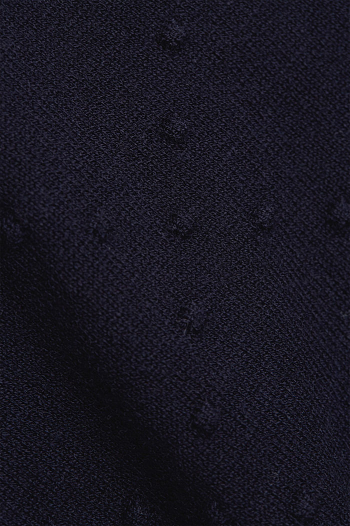 Short-sleeved jumper with a polka dot texture, NAVY, detail image number 4