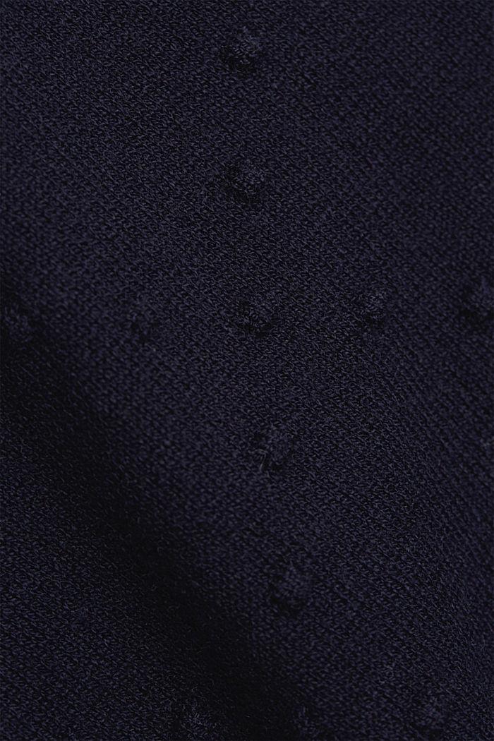 Kurzarm-Pullover mit Punkte-Struktur, NAVY, detail image number 4