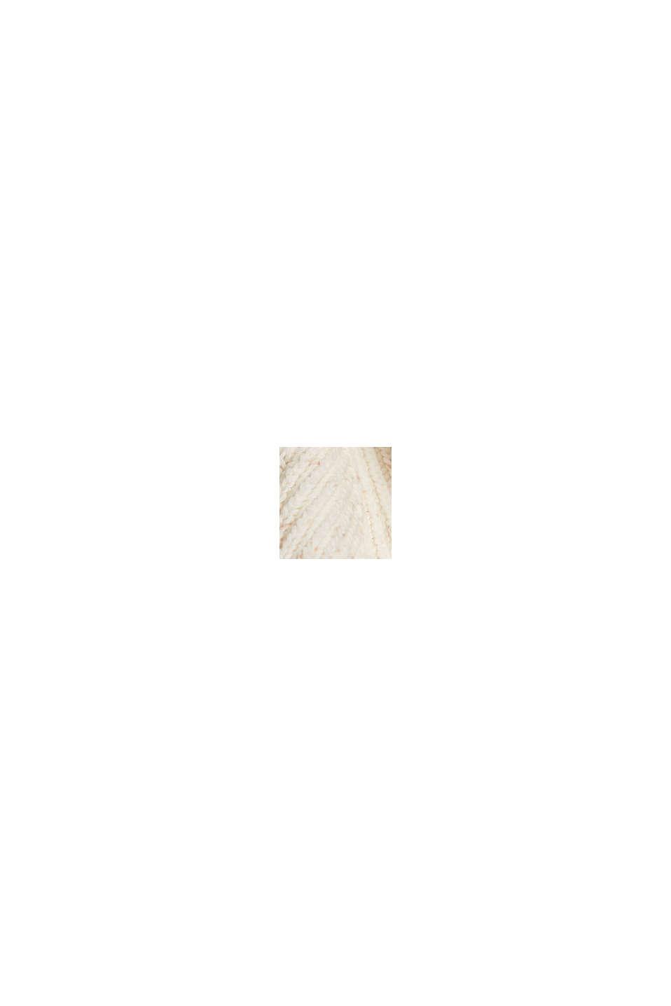 Pullover strutturato con filato ad effetto in cotone, OFF WHITE, swatch