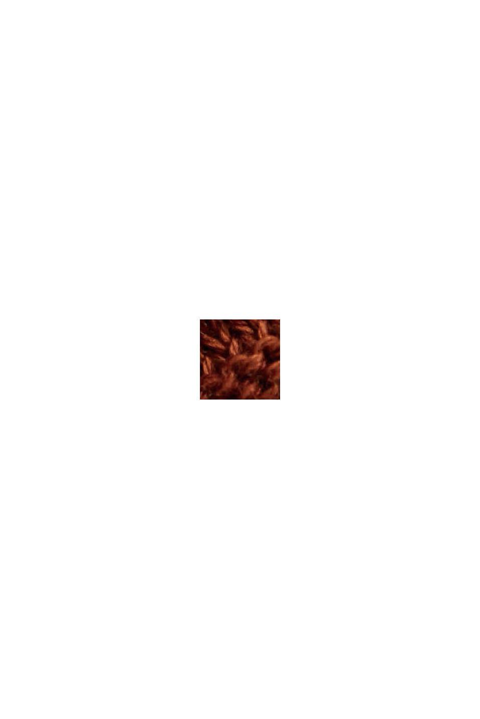 Con lyocell TENCEL™: cardigan a coste, TOFFEE, swatch