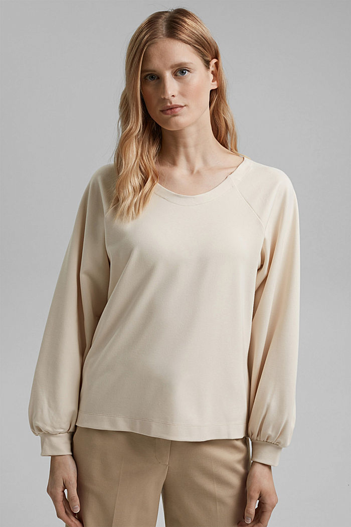 Sweatshirt with LENZING™ ECOVERO™, ICE, detail image number 0