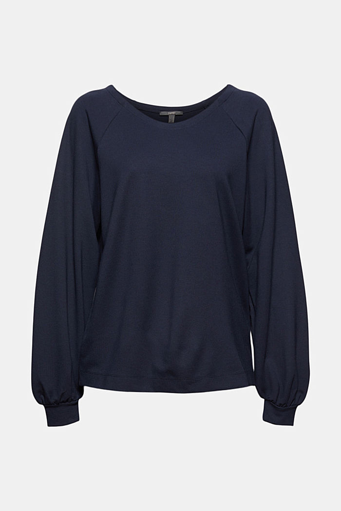 Sweatshirt with LENZING™ ECOVERO™, NAVY, detail image number 5