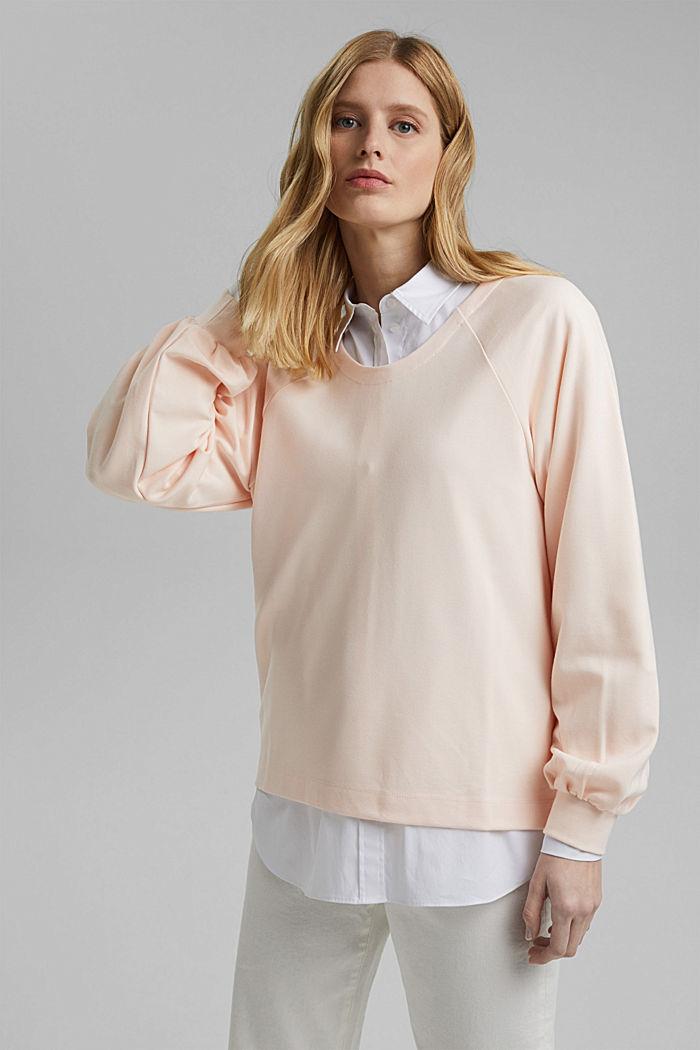 Sweat-shirt à teneur en LENZING™ ECOVERO™, LIGHT PINK, detail image number 0