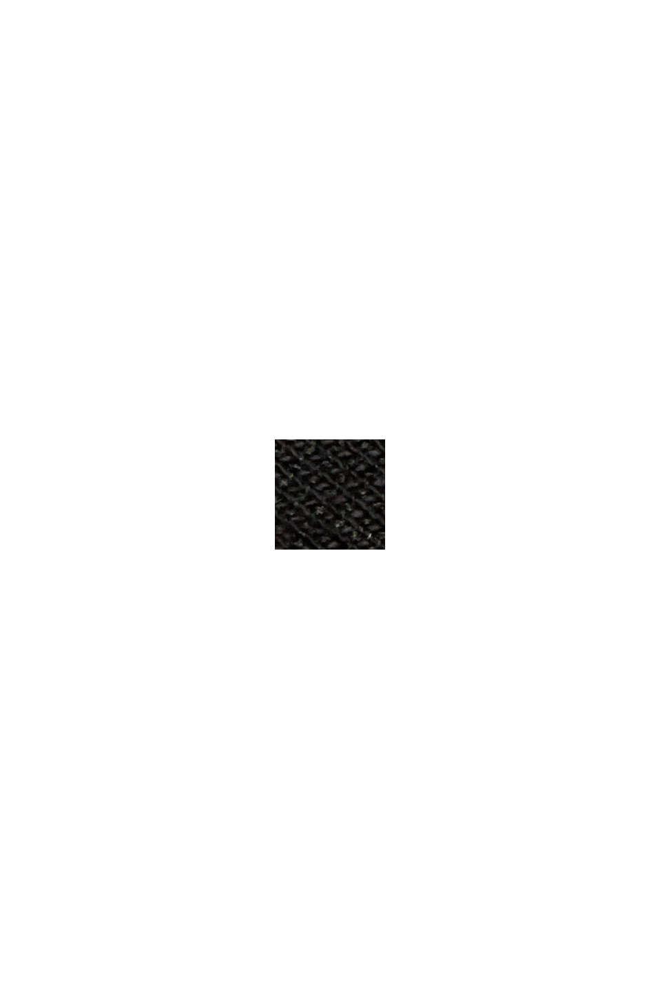Maglia con collo a tartaruga e dettagli in raso, BLACK, swatch
