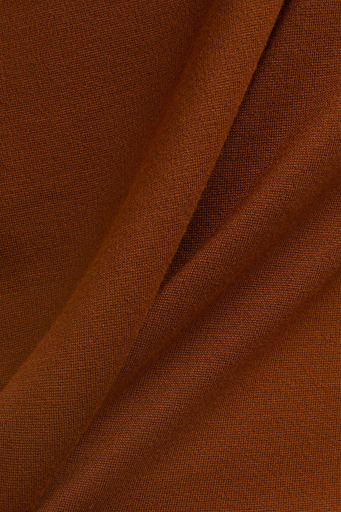 Turtleneck top with satin details, TOFFEE, detail image number 4
