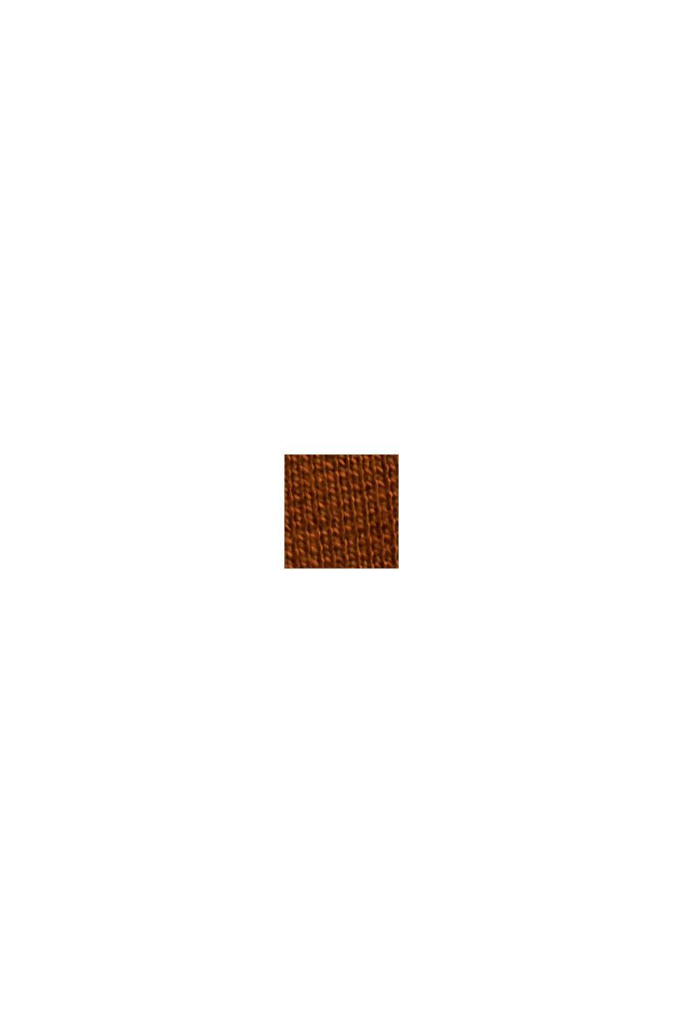 Maglia con collo a tartaruga e dettagli in raso, TOFFEE, swatch