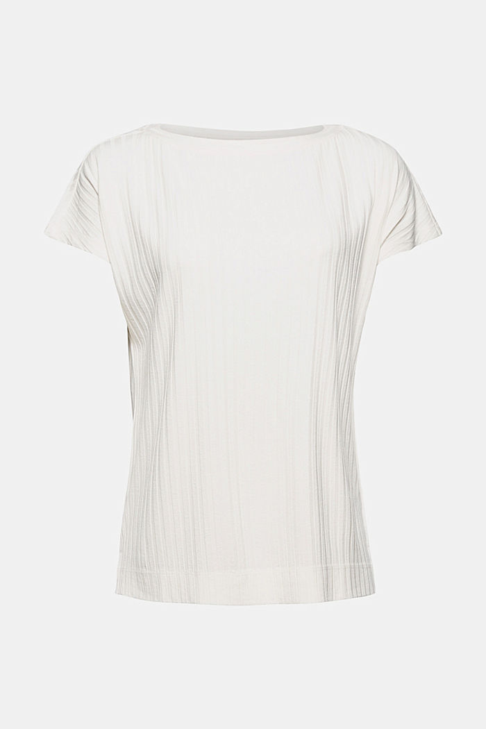 Ribbed top made of LENZING™ ECOVERO™ viscose, OFF WHITE, detail image number 7