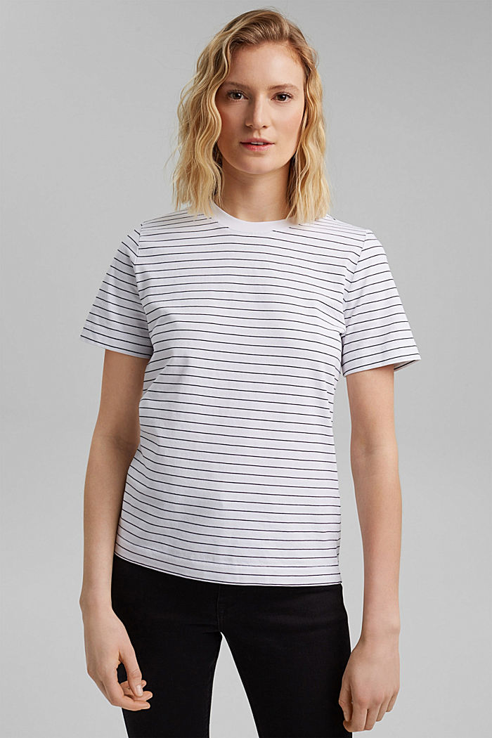 Jersey T-shirt made of 100% organic cotton, NEW WHITE, detail image number 0