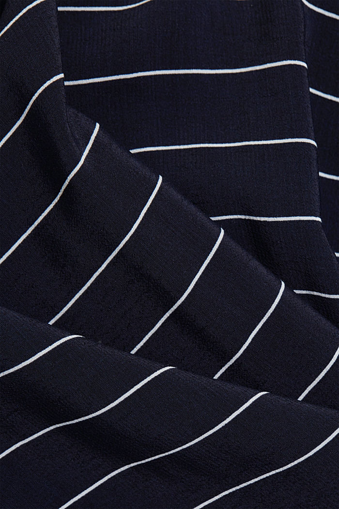 Mixed material top made of LENZING™ ECOVERO™, NAVY, detail image number 4