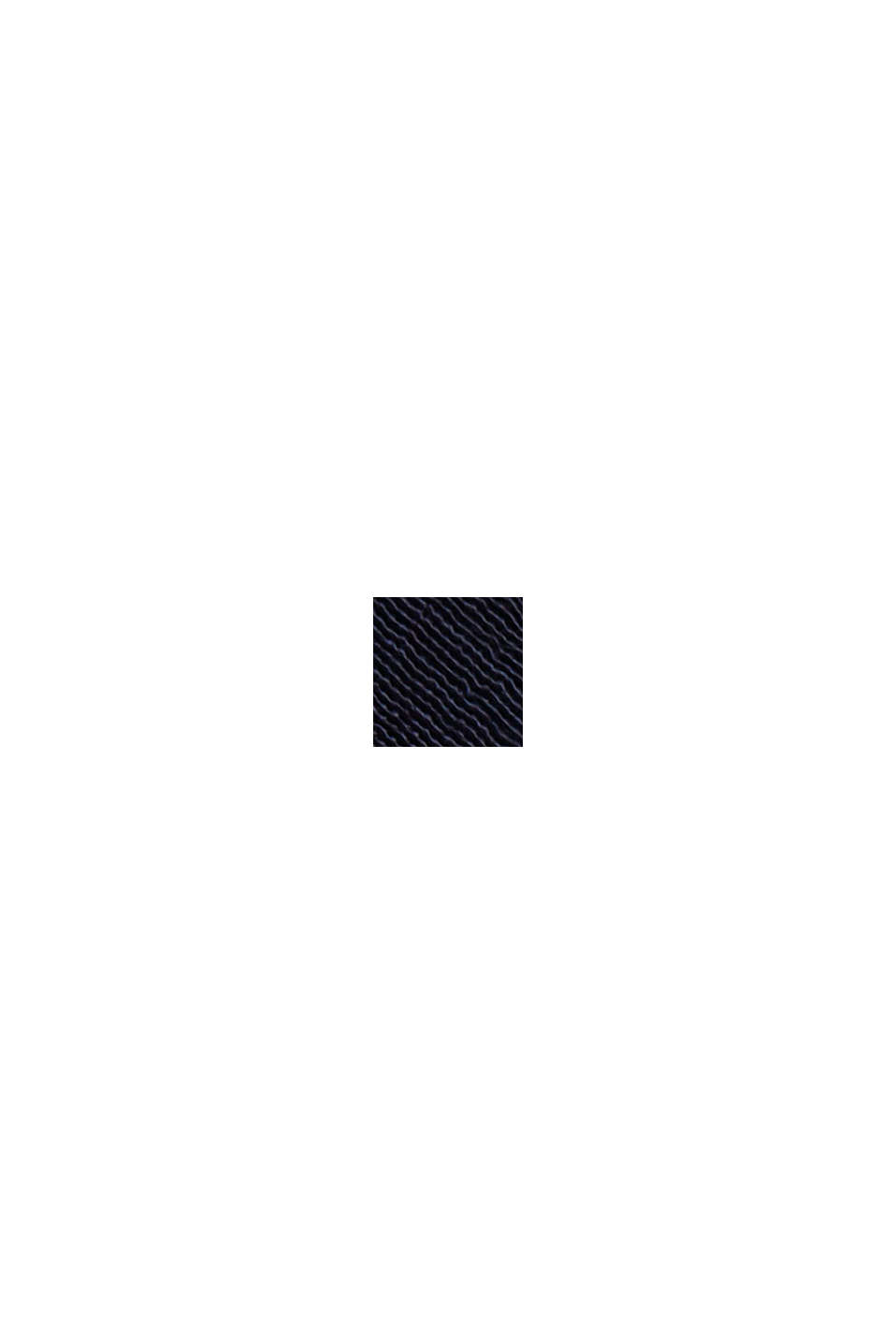 Shirt van een materiaalmix van LENZING™ ECOVERO™, NAVY, swatch