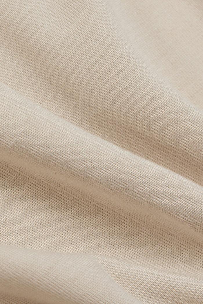 Art print T-shirt made of LENZING™ ECOVERO™, CREAM BEIGE, detail image number 4
