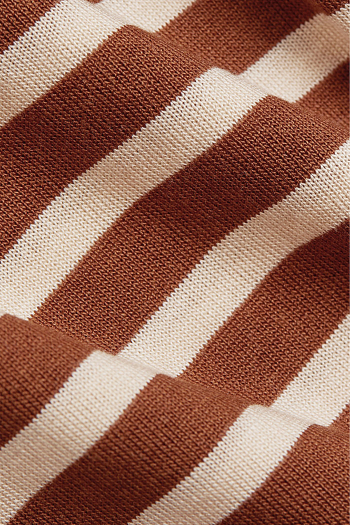 Striped T-shirt made of 100% lyocell, TOFFEE, detail image number 4