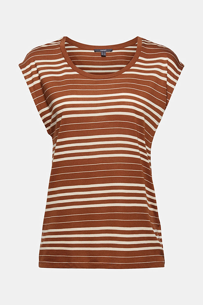 Striped T-shirt made of 100% lyocell