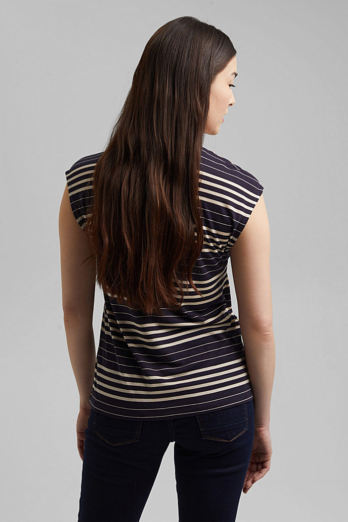 Striped T-shirt made of 100% lyocell, NAVY, detail image number 3