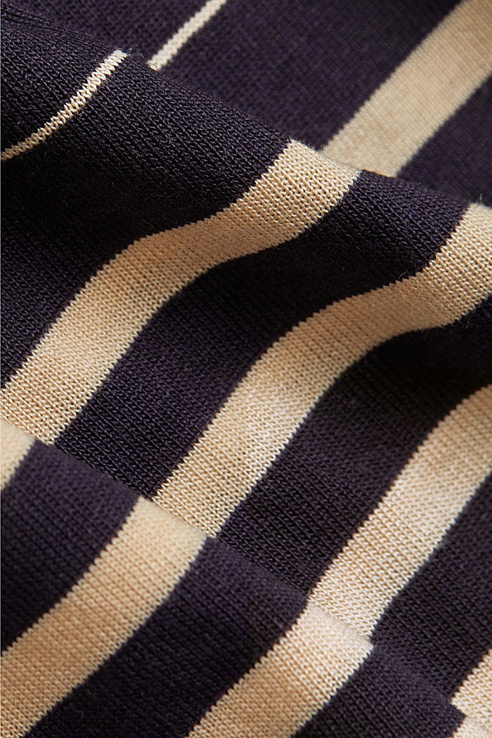 Striped T-shirt made of 100% lyocell, NAVY, detail image number 4