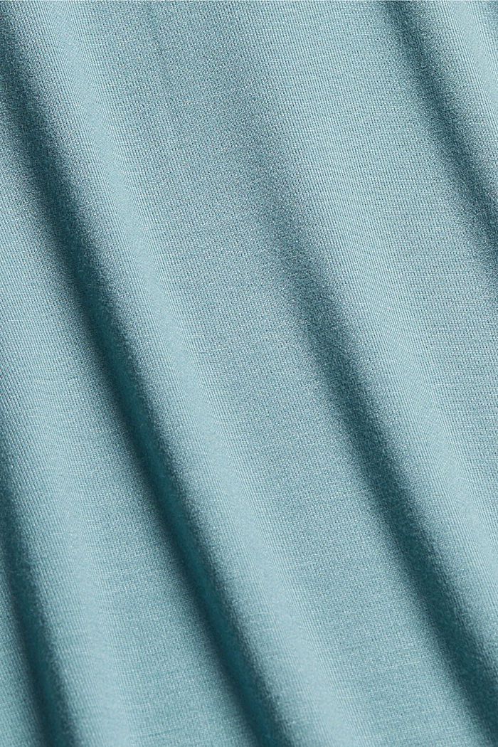 Jersey top with LENZING™ ECOVERO™, DARK TURQUOISE, detail image number 4