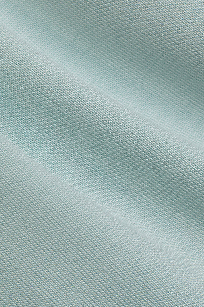 Jersey top with LENZING™ ECOVERO™, LIGHT TURQUOISE, detail image number 4