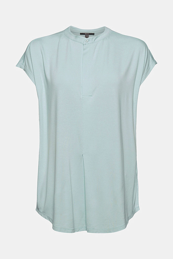 Jersey top with LENZING™ ECOVERO™, LIGHT TURQUOISE, detail image number 6