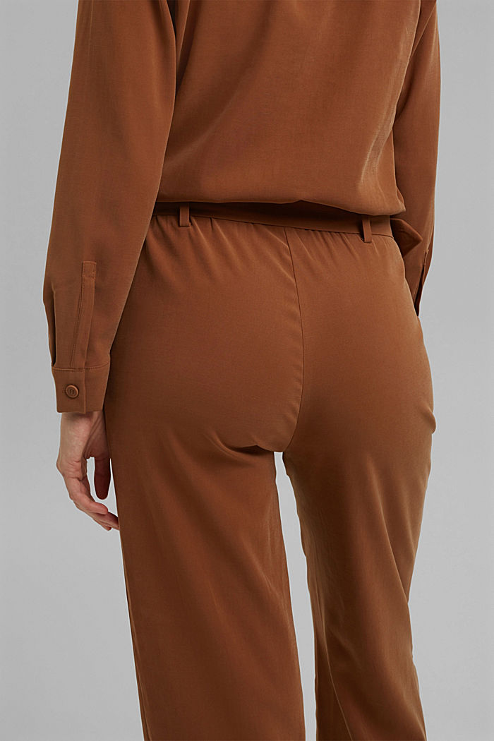 Jumpsuit containing LENZING™ ECOVERO™, TOFFEE, detail image number 5