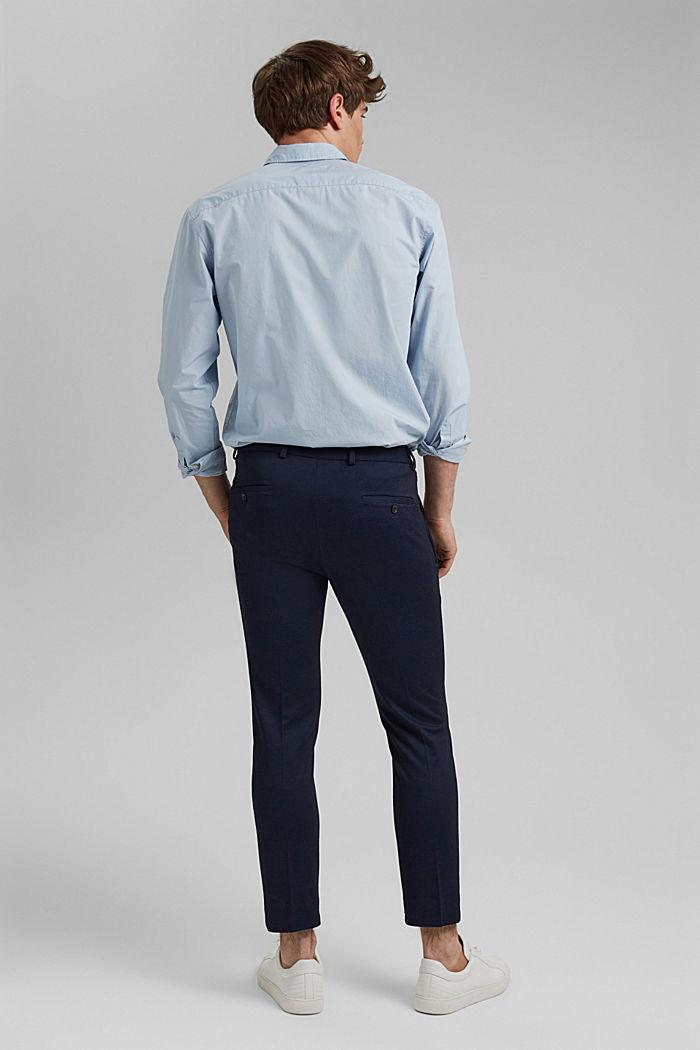 Pantalón de traje de jersey con diseño bicolor, DARK BLUE, detail image number 1