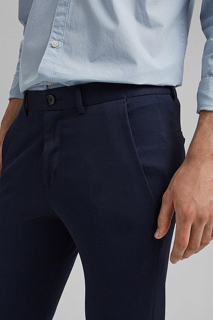 Pantalón de traje de jersey con diseño bicolor, DARK BLUE, detail image number 3