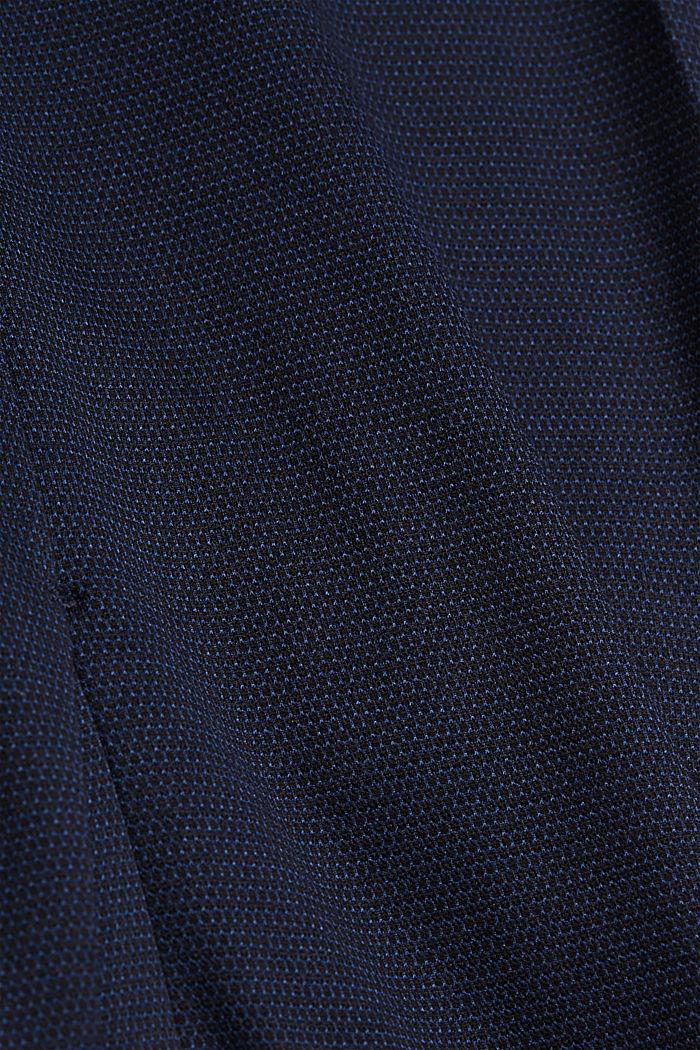 Pantalón de traje de jersey con diseño bicolor, DARK BLUE, detail image number 4