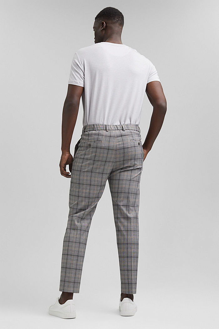 Check mix + match trousers with COOLMAX®, GREY, detail image number 1