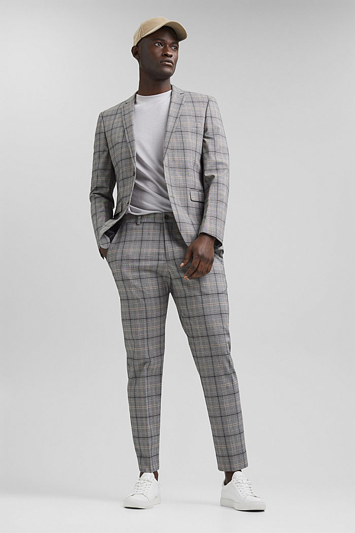 Check mix + match trousers with COOLMAX®, GREY, detail image number 2