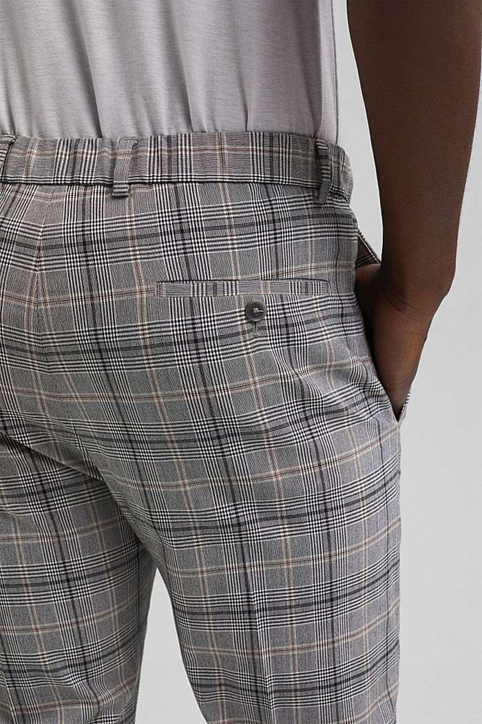 Check mix + match trousers with COOLMAX®, GREY, detail image number 3