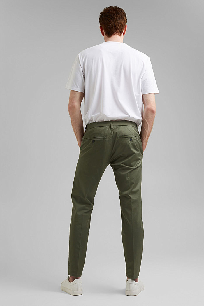 Trousers made of organic cotton with Lycra xtra life™, LIGHT KHAKI, detail image number 3