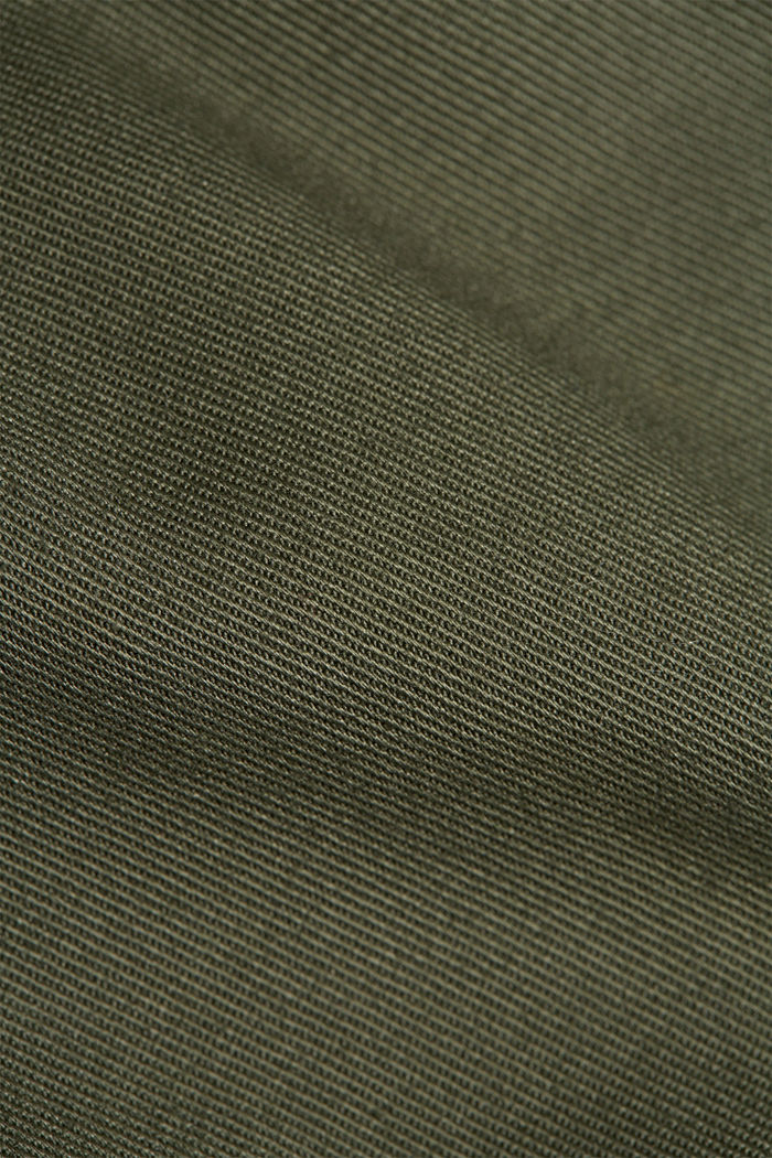 Trousers made of organic cotton with Lycra xtra life™, LIGHT KHAKI, detail image number 4