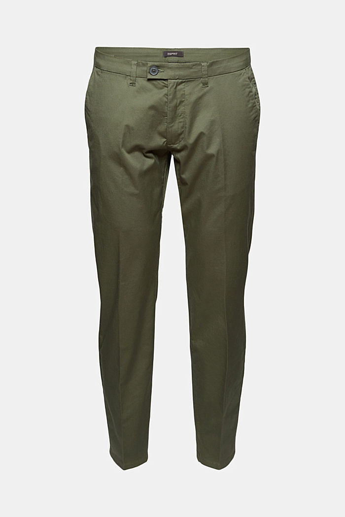 Trousers made of organic cotton with Lycra xtra life™, LIGHT KHAKI, detail image number 7
