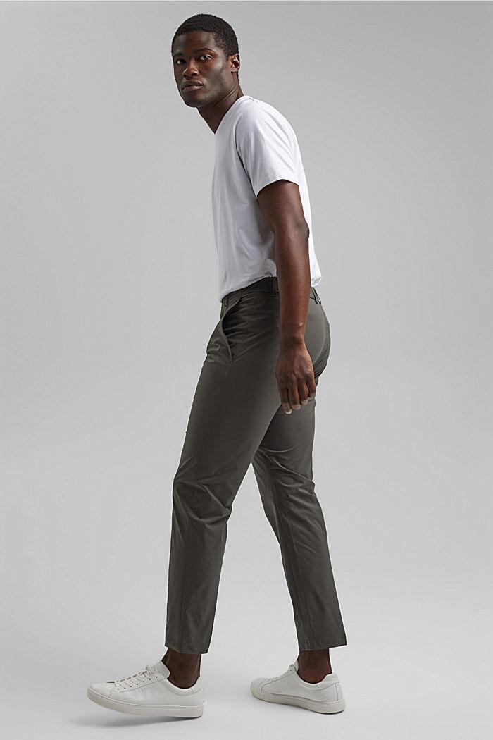 #ReimagineFlexibility: oddychające spodnie, DARK KHAKI, detail image number 1