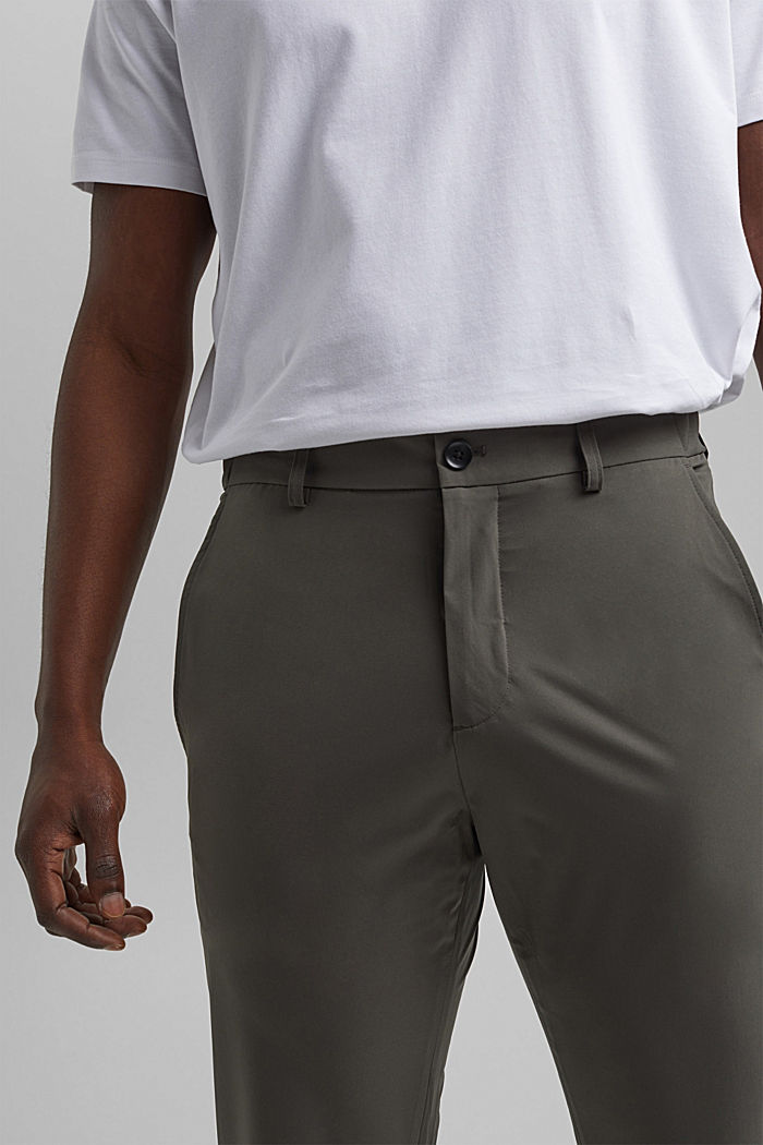 #ReimagineFlexibility: oddychające spodnie, DARK KHAKI, detail image number 3