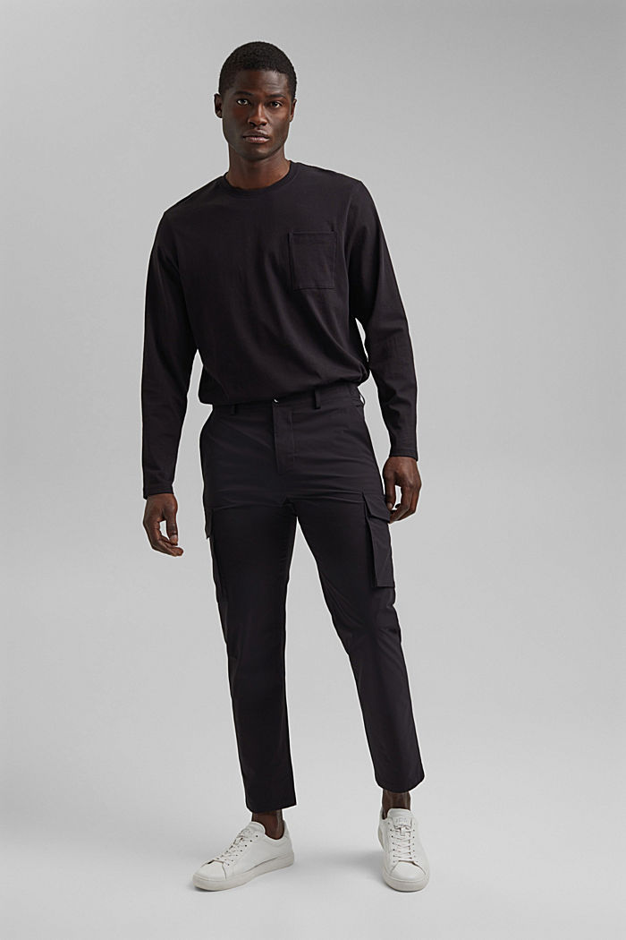 #ReimagineFlexibility: breathable trousers, BLACK, detail image number 4