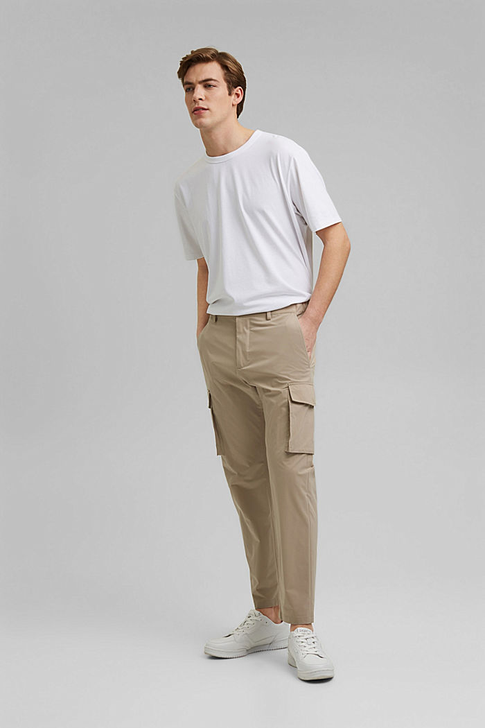 #ReimagineFlexibility: breathable trousers, BEIGE, detail image number 4