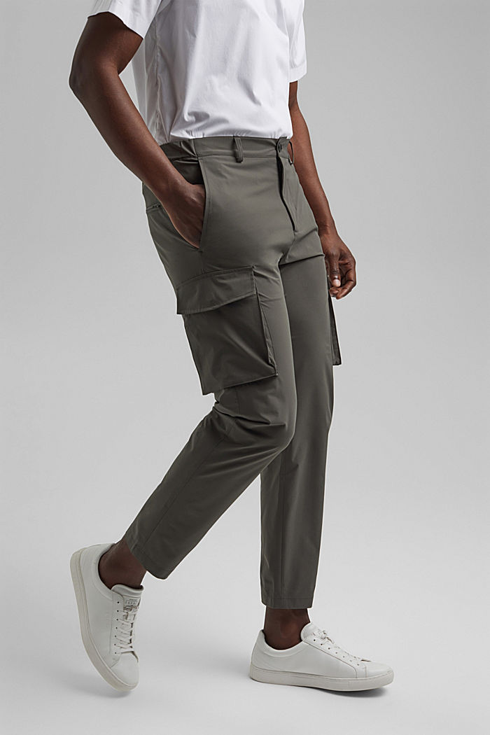 #ReimagineFlexibility: breathable trousers, DARK KHAKI, detail image number 0