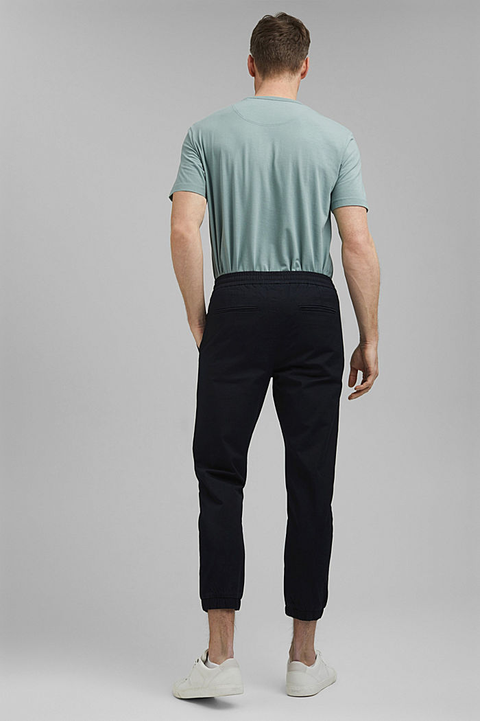 Ankle-length tracksuit bottoms in organic cotton, BLACK, detail image number 3
